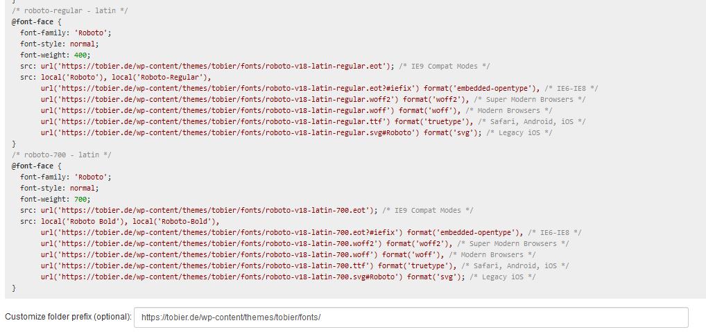 Google Fonts selber Hosten